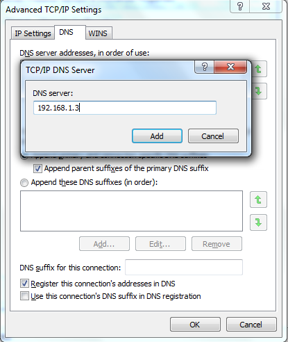 Local DNS setup Option 2 step 9